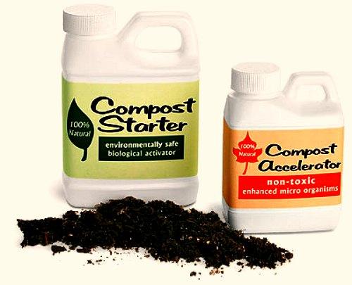 aceleradores de compost, iniciadores de compost, activadores de compost, intensificadores de compost