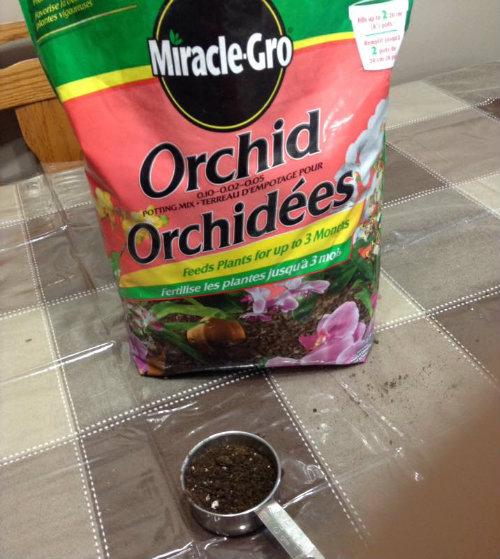 El medio Miracle-Gro Orchid no es adecuado para el cultivo de orquídeas