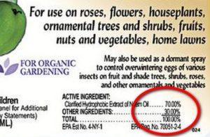 Aceite de nead sin azadiractina: solo el componente de aceite